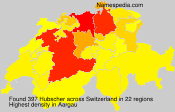 Surname Hubscher in Switzerland