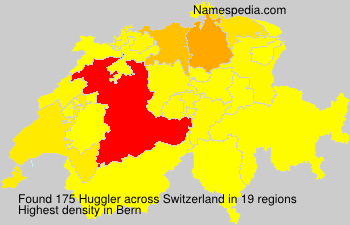 Surname Huggler in Switzerland