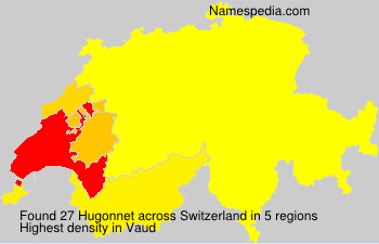 Surname Hugonnet in Switzerland