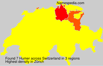 Surname Humer in Switzerland