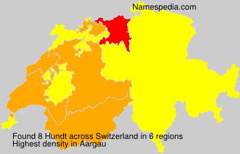 Surname Hundt in Switzerland