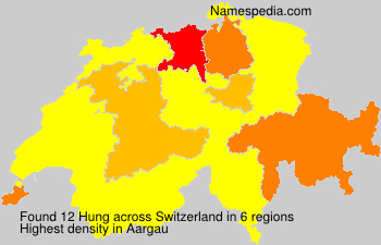 Surname Hung in Switzerland