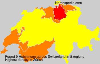 Surname Hutchinson in Switzerland