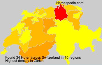Surname Huter in Switzerland
