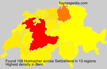 Surname Hutmacher in Switzerland