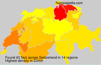 Surname Ilazi in Switzerland