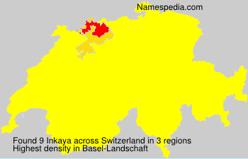 Surname Inkaya in Switzerland