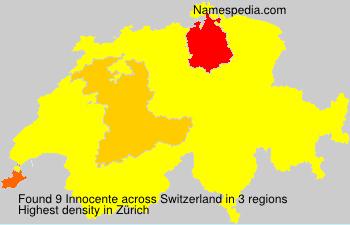 Familiennamen Innocente - Switzerland