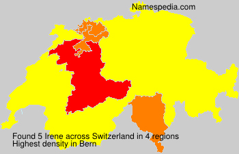 Surname Irene in Switzerland