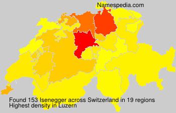 Surname Isenegger in Switzerland