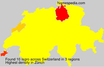 Surname Isgro in Switzerland