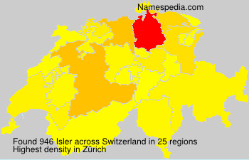 Surname Isler in Switzerland
