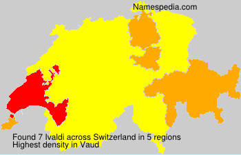 Surname Ivaldi in Switzerland