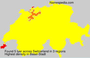 Surname Iyer in Switzerland