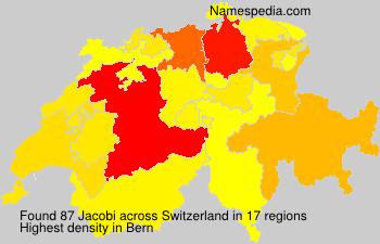 Surname Jacobi in Switzerland