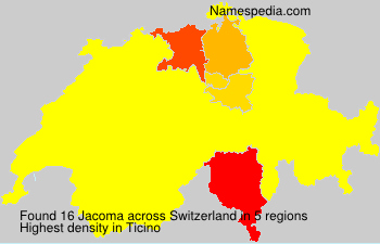 Surname Jacoma in Switzerland