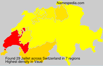 Surname Jaillet in Switzerland