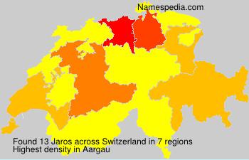 Surname Jaros in Switzerland