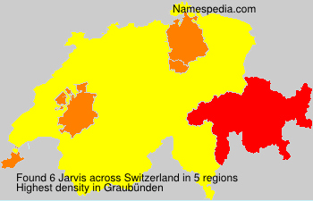 Surname Jarvis in Switzerland
