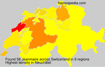 Surname Jeanmaire in Switzerland