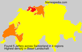 Surname Jeffery in Switzerland