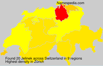 Surname Jelinek in Switzerland