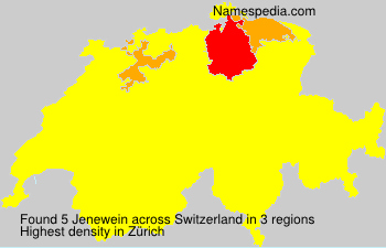 Surname Jenewein in Switzerland