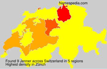 Familiennamen Jenner - Switzerland