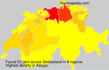 Surname Jent in Switzerland