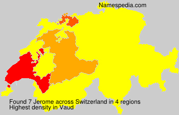 Surname Jerome in Switzerland