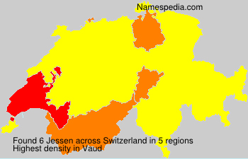 Surname Jessen in Switzerland