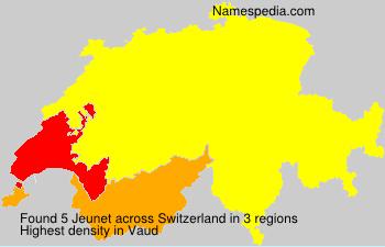 Familiennamen Jeunet - Switzerland
