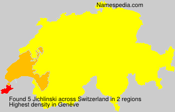 Surname Jichlinski in Switzerland