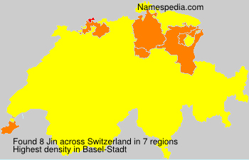 Surname Jin in Switzerland