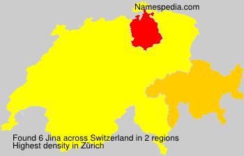 Familiennamen Jina - Switzerland