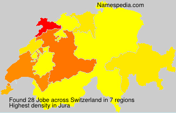 Surname Jobe in Switzerland