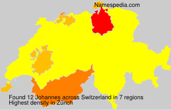 Surname Johannes in Switzerland