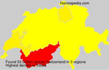 Surname Jollien in Switzerland