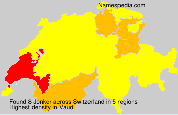 Surname Jonker in Switzerland