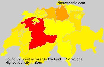 Surname Joost in Switzerland