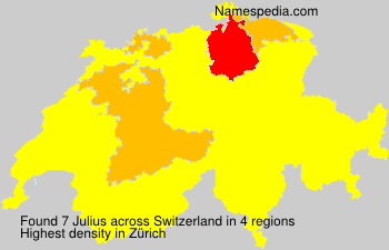 Surname Julius in Switzerland