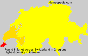 Surname Junet in Switzerland