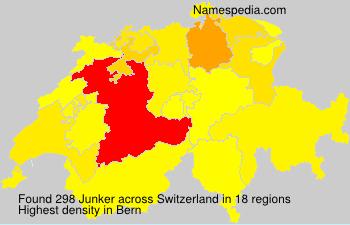 Surname Junker in Switzerland