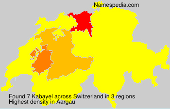 Surname Kabayel in Switzerland