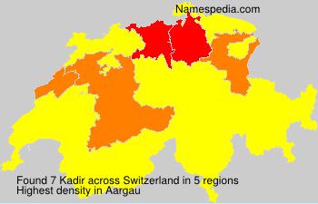Surname Kadir in Switzerland