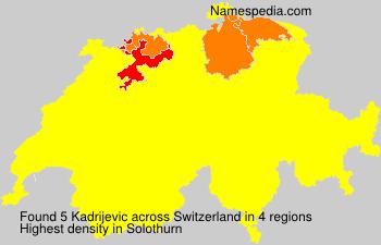 Familiennamen Kadrijevic - Switzerland