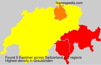 Surname Kaestner in Switzerland