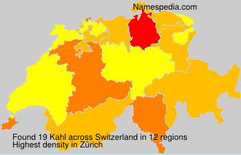 Surname Kahl in Switzerland