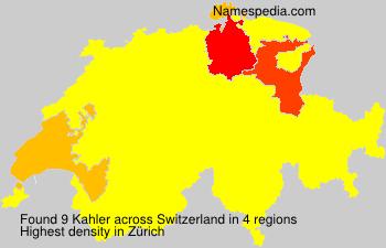 Surname Kahler in Switzerland