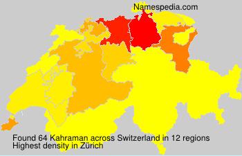Surname Kahraman in Switzerland